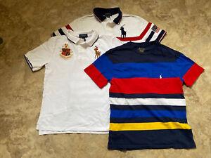 Boy's Ralph Lauren polo & T Shirt Lot (3) M 10-12