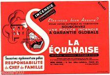LOT de 2 BUVARD PUBLICITAIRE ANCIEN - ASSURANCE LA SEQUANAISE - 1954
