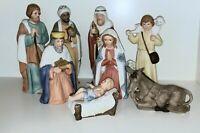 Vintage Porcelain Christmas Nativity Set HOMCO Home Interiors  #5260