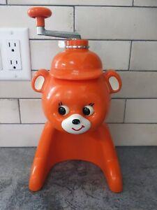 VTG Snow Cone Maker Orange! Tiger Corporation Ice Veggie Shaver Kyoro Chan Eyes
