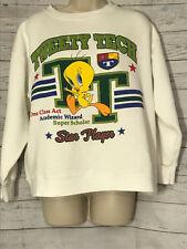 Looney Tunes Tweety Tech Star Player Sweatshirt Warner Brothers Crew Neck M/L