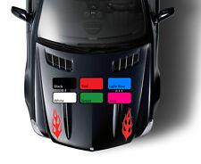 2 x flamme 119 autocollant voiture racing fire sport drift tuning vinyle jdm wv autocollant art