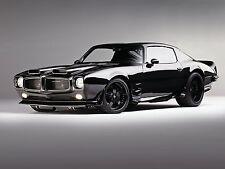 1970 Pontiac Firebird black 24X36 inch poster, sports car, muscle car