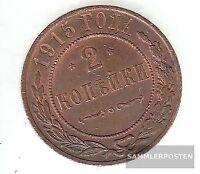 Rußland KM-Nr. : 10 1913 CPB sehr schön Kupfer 1913 2 Kopeken Doppeladler