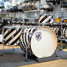 SJC 3-Piece Custom Drum Kit In Barber Shop Finish