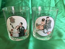 Two Vintage Curtis Publishing Company Norman Rockwell Glassware Collection, 2