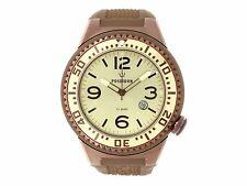 POSEIDON Herren-Armbanduhr XL Slim Analog Silikon UP00392 Braun/Cham. UVP 139,-