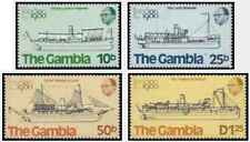 Timbres Bateaux Gambie 407/10 ** lot 19686