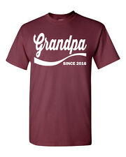 Grandpa Since 2016 Fathers Day Gift  Reunion Dad Men's Tee Shirt 1338