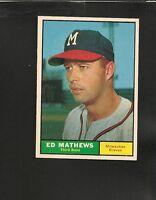 6876* 1961 Topps # 120 Ed Mathews NM-MT