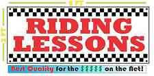 RIDING LESSONS Banner Sign NEW Larger Size 4 Horse MOTORCYCLE  ATV SNOW MOBILE