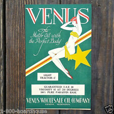 Vintage Original VENUS OIL Box Label 1920s Art Noveau Old Stock Unused NOS