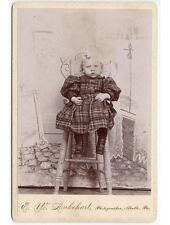 LITTLE GIRL IN HIGH CHAIR BY LUKEHART, APOLLO, PA, CABINET PHOTO