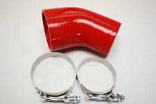 """For Silicone hose 45 degree 2.5"""" to 3"""" reducer 2 1/2"""" COUPLER +2 T bolt clamp"""