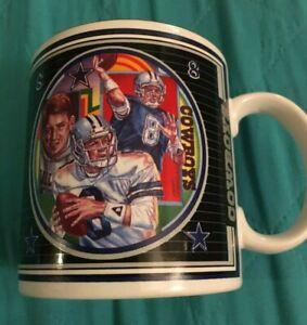 Vintage Dallas Cowboys Troy Aikman 8 Coffee Mug 1993 Team NFL Sports Impressions