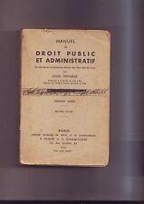 droit public et administratif  - louis trotabas - premiere année