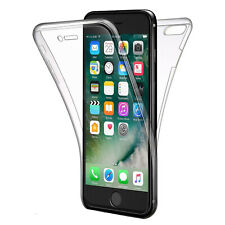 COVER PER APPLE IPHONE 8 / 7 FULL BODY 360 FRONTE RETRO CUSTODIA TRASPARENTE