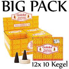 GOLOKA - die Gelben - Klassiker BIG PACK 12 x 10 St. RÄUCHERKEGEL