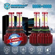 2Pairs 9005+9006 CREE LED 4000W 600000LM Combo Headlight High/Low Beam 6000K Kit
