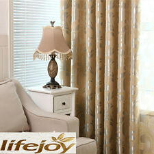 Blockout Eyelet Curtains 3 Layers Fabric 180cm x 230cm (Drop) French Style Beige