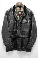 Vintage Belstaff Panther Leather Jacket TESTA DI MORO Biker Coat DARK BROWN
