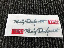 NEW SET OF 2 TOYOTA TRD RACING SPORT DOOR HANDLE EMBLEM LOGO BADGE DECAL