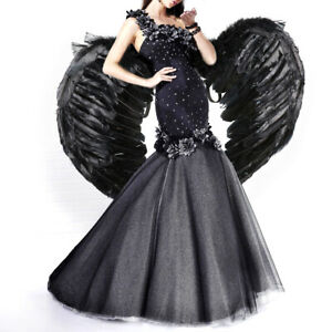 Halloween Feather Angel Wings Adult Costume Fancy Dress Cosplay Party Props