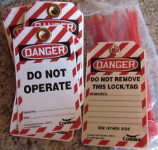 Condor Plastic Lockout Tag Danger Do Not Operate Pk25 48RU11