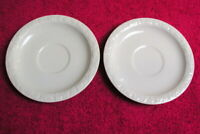 "{SET OF 2} Rosenthal (Maria White) 6 3/8"" SAUCERS Exc (4 set avail)"