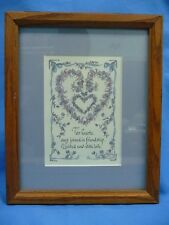 Lynn Norton Parker Framed Matted Print Two Hearts United With Love Message