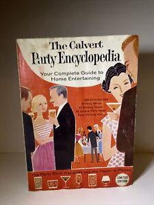 Rare The Calvert Party Encyclopedia Vintage 1960 Cocktail Recipe Book Bartending