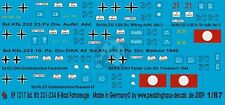 Peddinghaus 1/87 (HO) Sd.Kfz.231/233/234 German Armoured Car Markings WWII 1217
