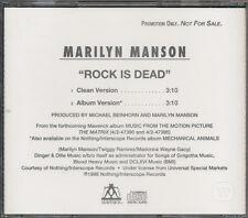 Marilyn Manson Rock Is Dead Rare promo Cd single 1998