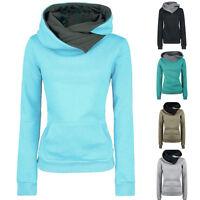 Sale Women Warm Long Sleeve Hoodie Sweatshirt Jumper Sweater Pullover Tops Coat