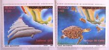 Mexico 1982 Carey Turtles Gray Whales Mexican Map Fauna SC 1281-1282 MNH