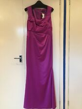 BNWT ALEXON CERISE SATIN LONG EVENING DRESS SIZE 10 - 2 AVAILABLE - BRIDESMAIDS