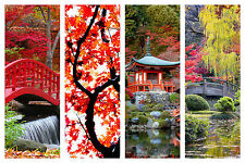 STUNNING JAPANESE GARDEN CANVAS COLLAGE #7 QUALITY LANDSCAPES BOX CANVAS A1