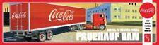 AMT 1109 1/25 Scale Plastic Model Kit Fruehauf Van Coca Cola Truck Trailer