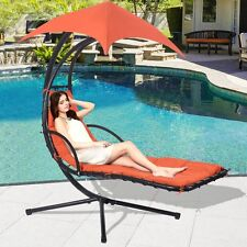 Pool Lounge Chair Canopy Hammock Hanging Chaise Arc Swing Stand Air Porch Patio