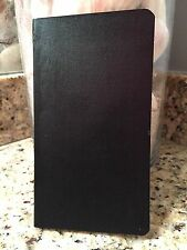 Journal, Travel Journal, Notebook, Diary, 3.75 x 6.7 Black 96 Lined Sheets