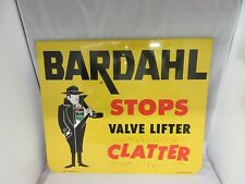 VINTAGE OIL GAS BARDAHL SIGN  NOS STOUT SIGN  ADVERTISING SIGN  m-29
