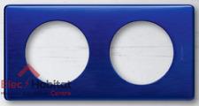 Plaque double métal Céliane nuit d'encre entraxe 71mm Legrand 68782