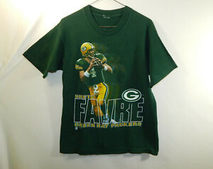 Brett Favre 1995 Green Bay Packers NFL Football T Shirt Size YOUTH EXTRA LARGE