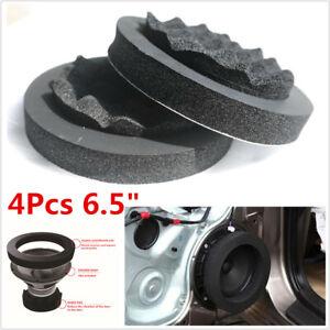 "4Pcs 6.5"" Fast Rings Car Audio Speaker Foam Pad Ring Noise Soundproof Kit Black"