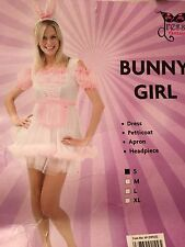 Bunny girl  Halloween smart Fancy Dress Costume Sz S