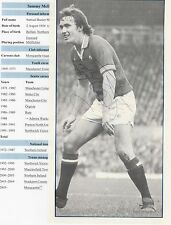 SAMMY McILROY MANCHESTER UNITED 1971-1982 ORIG SIGNED MAGAZINE PICTURE CUTTING