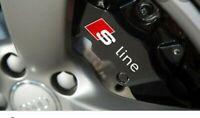 4 Pegatinas sticker decal brake caliper Audi A3 Sline pinzas freno 8 cm