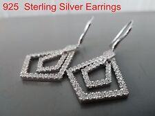 100% 925 Sterling silver earrings. Quality AAAAA grade CZ. Micro-insert process