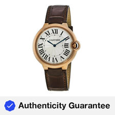 New Cartier Ballon Bleu 40mm 18kt Rose Gold Brown Leather Men's Watch W6920083