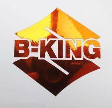 B King Naranja Cromo pegatinas a medida Gráficos 70mm x 70mm